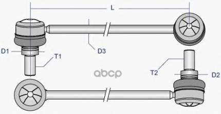 Рулевая тяга Moog PEDS6905