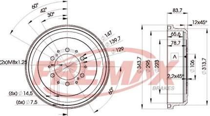 Тормозной барабан FREMAX BD-5191