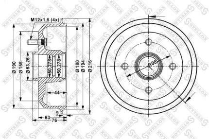 Тормозной барабан STELLOX 6025-2526-SX