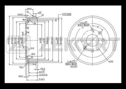 Тормозной барабан ZEKKERT BS-5527