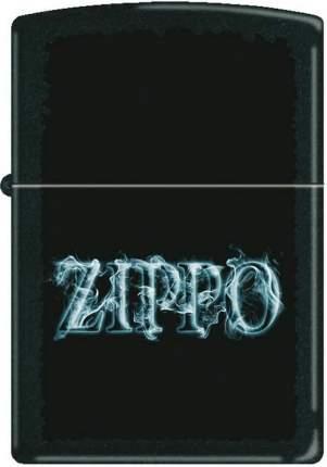 Бензиновая зажигалка Zippo №218 Smoking Zippo Black Matte