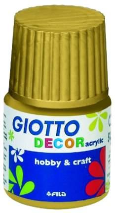 Акриловая краска на водной основе Giotto Decor Acrylic золотой 25 мл