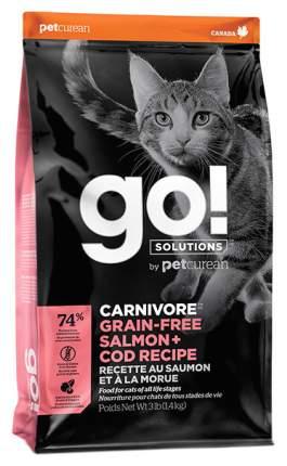 Сухой корм для кошек и котят GO! Carnivore, беззерновой, с лососем и треской, 1,36кг