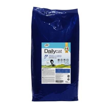 Сухой корм для кошек Dailycat Adult, сельдь, лосось и рис, 10кг