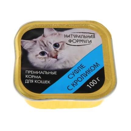 Консервы для кошек Натуральная Формула, кролик, 100г
