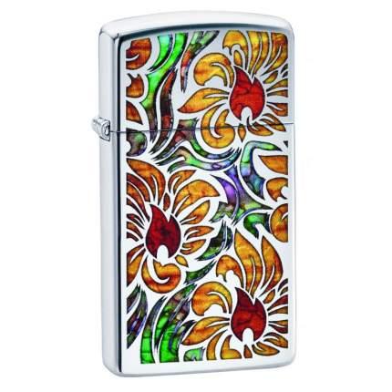 Зажигалка Zippo Fusion Floral Design High Polish Chrome
