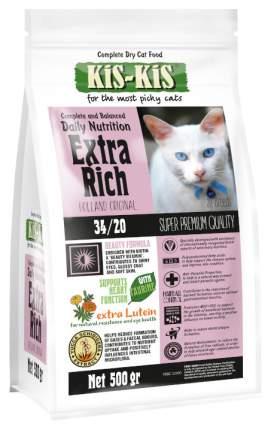 Сухой корм для кошек KiS-KiS Extra Rich, мясо, 0,5кг