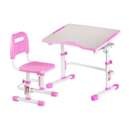 Комплект парта и стул трансформеры Fundesk Vivo 2 розовый, белый,