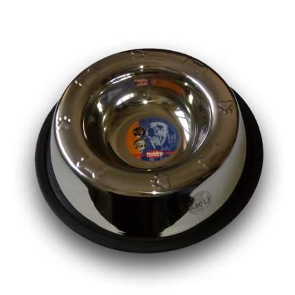 Миска для собак Nobby, металлическая на резине, 0,5 л