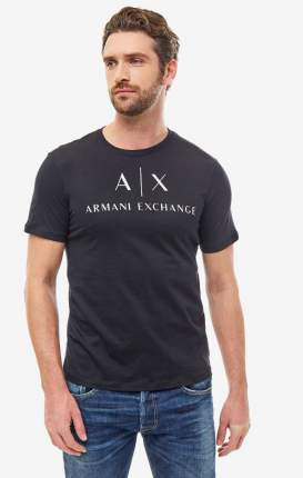 Футболка мужская Armani Exchange 8NZTCJ Z8H4Z 1200 черная/белая XXL