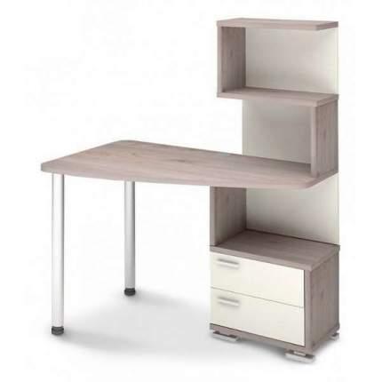 Компьютерный стол Мэрдэс Домино нельсон СКМ-60 MER_SKM-60_NBE-PRAV, белый жемчуг/нельсон