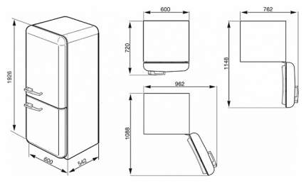 Холодильник Smeg FAB32LNEN1 Black