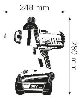 Аккумуляторная дрель-шуруповерт Bosch GSB 36 VE-2-LI 06019C1100