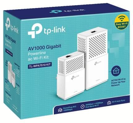 Комплект сетевых гигабитных Wi-Fi адаптеров Powerline AV1000 TL-WPA7510 KIT