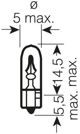 Лампа накаливания автомобильная OSRAM 1.2W (2721)