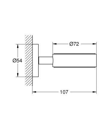 Держатель для стаканов и мыльницы или дозатора Grohe Essentials 40369001