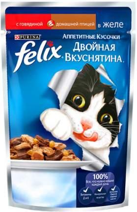 Влажный корм для кошек Felix Двойная вкуснятина, домашняя птица, 85г