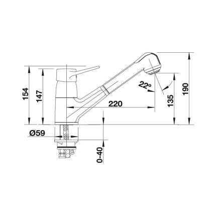 Смеситель для кухонной мойки Blanco ORION-S 512543 нержавеющая сталь