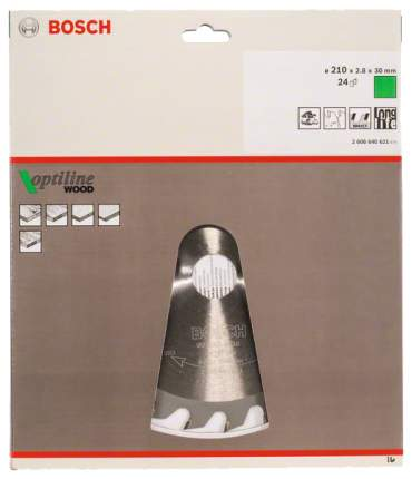 Диск по дереву Bosch STD WO 210x30-24T 2608640621