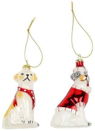 Набор елочных игрушек Kuchenland Новогодние собачки Новогодний ансамбль 9 см 2 шт