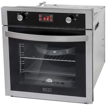 Встраиваемый газовый духовой шкаф RICCI RGO-650IX Silver/Black
