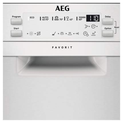 Посудомоечная машина 45 см AEG FFB95140ZM silver
