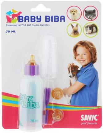 Бутылочка с соской для щенков и котят Savic, пластик, металл, резина, 70 мл