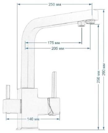 Смеситель для кухонной мойки Seaman Barcelone SSL-5391 Snow 470623 белый