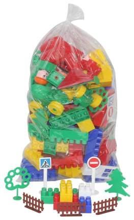 Конструктор пластиковый Полесье Строитель 128 элементов