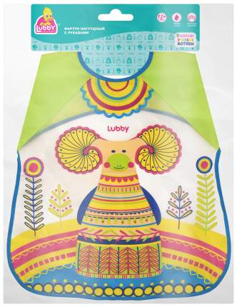 Нагрудник детский lubby с рукавами Русские мотивы от 12 мес
