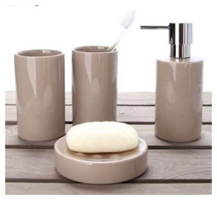 Стакан для зубных щеток Spirella Tube керамика Темно-серый
