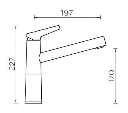 Смеситель Schock SC-510-D хром/лунный камень