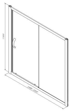 Стеклянная шторка для ванной Am.Pm Bliss L W53S-1501150MT