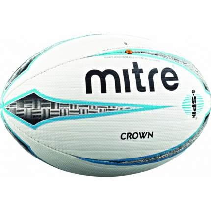 Мяч для регби Mitre Crown, 5, белый/голубой