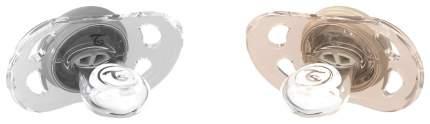 Пустышка Twistshake (Твистшейк) 2шт 0-6 мес пастельный серый и пастельный бежевый 78287