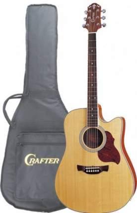 Электроакустическая гитара шестиструнная CRAFTER DE-6 N  Чехол