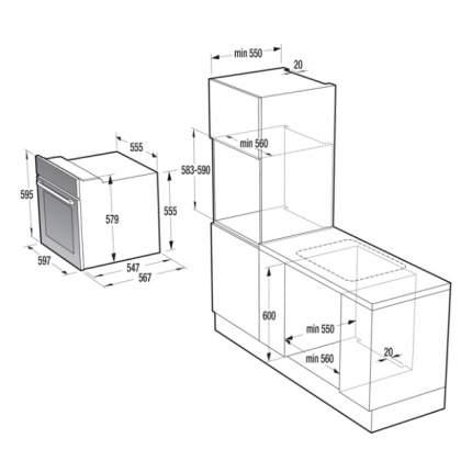 Встраиваемый электрический духовой шкаф Gorenje BA737EX Silver