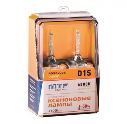 Штатная ксеноновая лампа MTF Light D1S 3700lm (2шт.) арт. AVBD1S