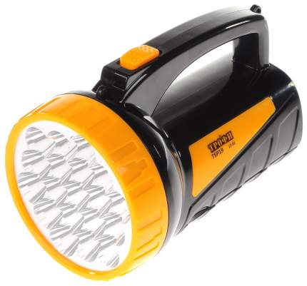 Туристический фонарь Трофи TSP19 черный/оранжевый, 2 режима