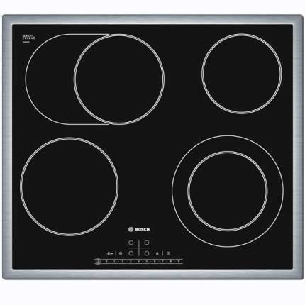 Встраиваемая варочная панель электрическая Bosch PKN645F17R Black