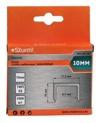Скобы для электростеплера Sturm! 1071-02-10