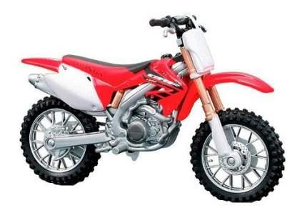 Мотоцикл металлический Bburago Honda CRF450R 1:18
