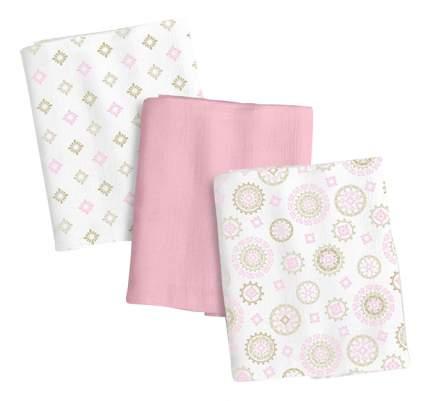 Набор пеленок Summer Infant muslin swaddleme 3 шт.розовый/орнамент