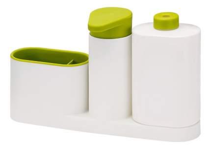 Органайзер для раковины с дозатором для мыла и бутылочкой sinkbase plus белый/зеленый
