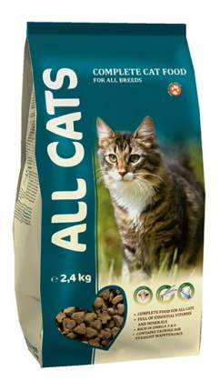 Сухой корм для кошек ALL CATS, полнорационный, мясо, 2,4кг