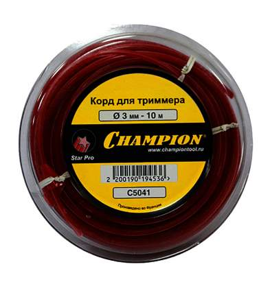 Леска для триммера Champion Star Pro 3.0мм/10м (звезда) (C5041)