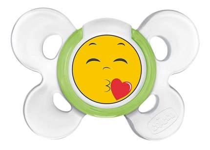 Силиконовая пустышка ортодонтическая Chicco Physio Comfort Smile 6-12 Мес