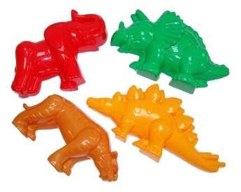 Песочный набор Полесье Тигр, мамонт и 2 динозавра
