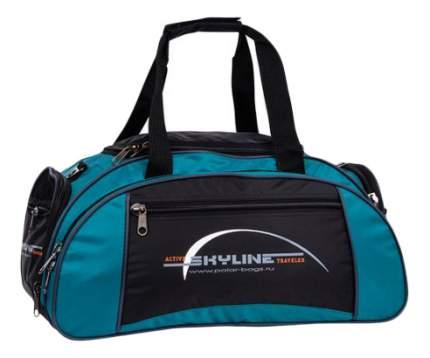 Дорожная сумка Polar 6063 черная/бирюзовая 50 x 30 x 24