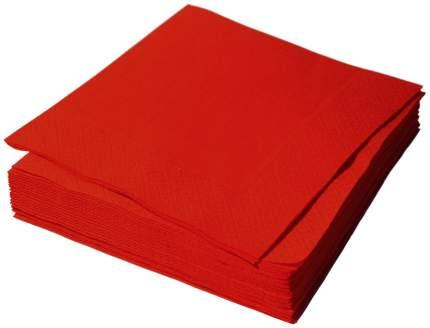 Бумажные салфетки H-Line однослойные красные 24*24 см 250 штук